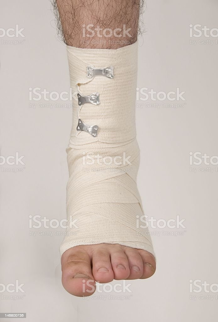 Ankle Bandage stock photo