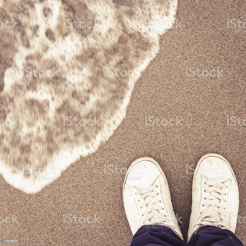 Ankle Deep In Water on winter royalty-free stock photo