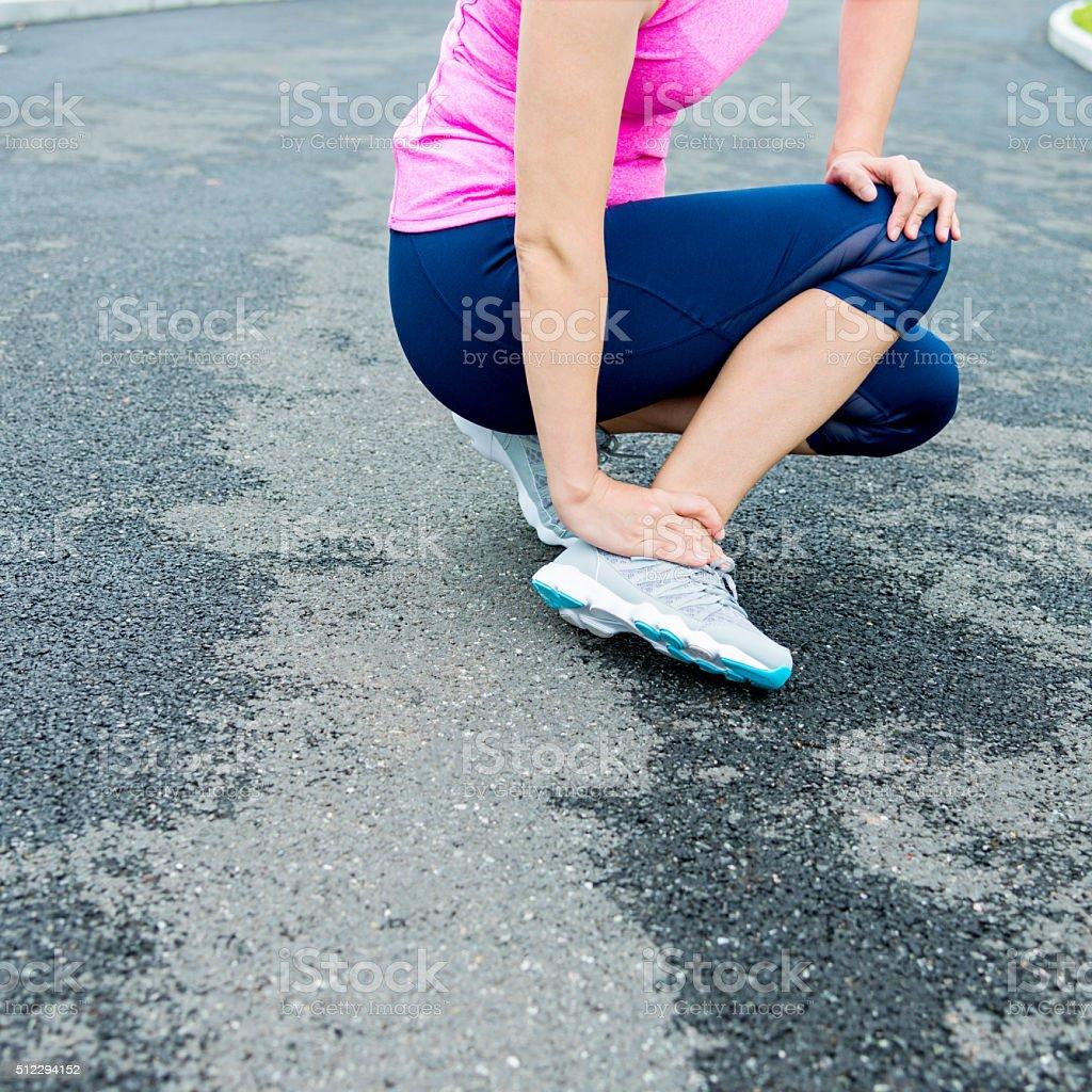 Ankle injury stock photo
