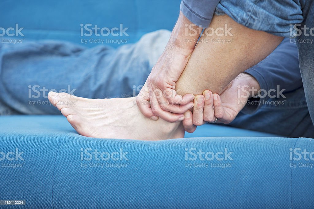 Ankle pain stock photo