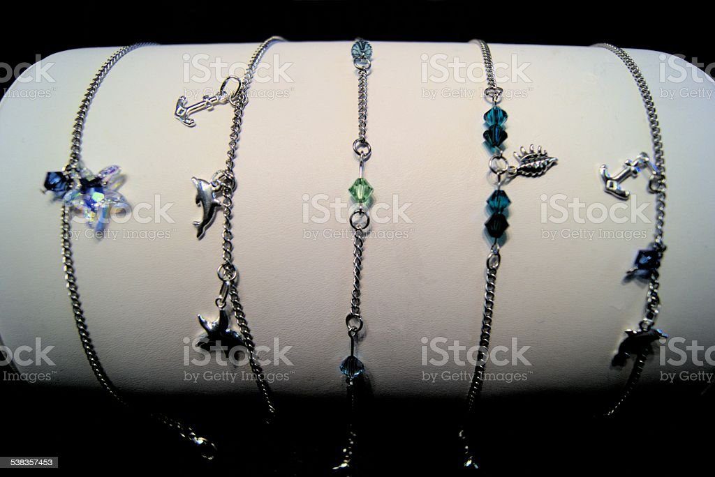 Anklets for sale stock photo