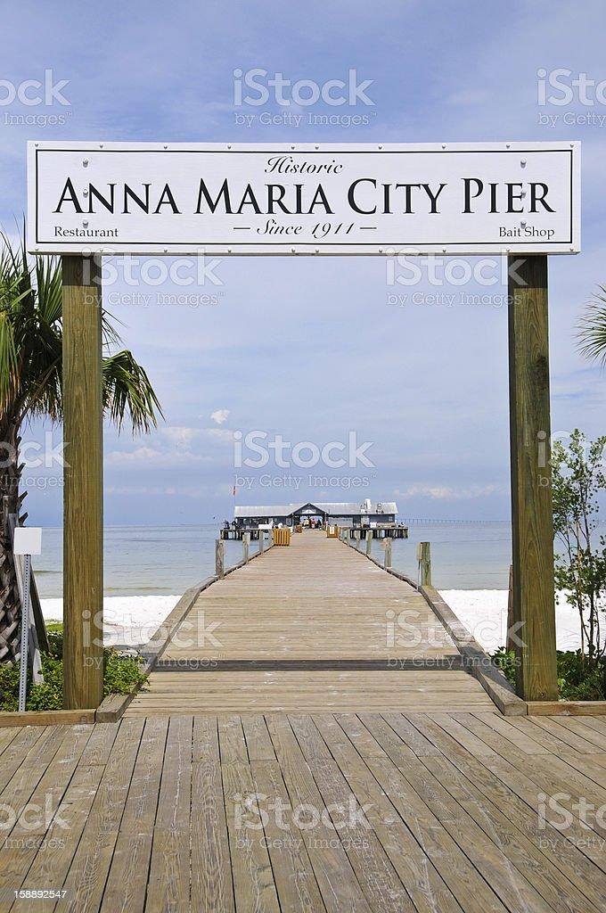 Anna Maria City Pier stock photo