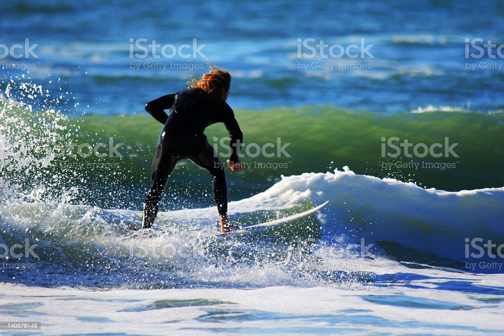 Anna Maria Island Surfer stock photo
