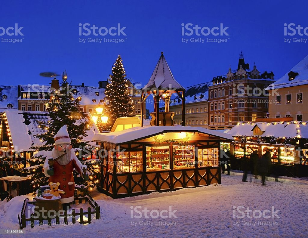Annaberg-Buchholz christmas market royalty-free stock photo