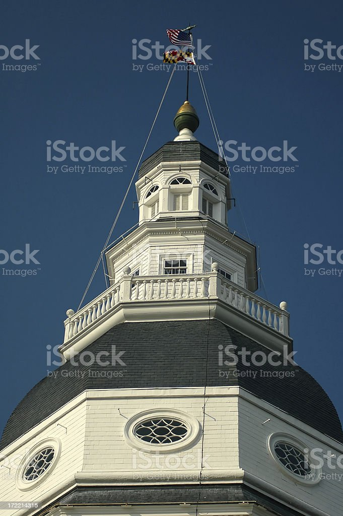 Annapolis Capitol Dome royalty-free stock photo