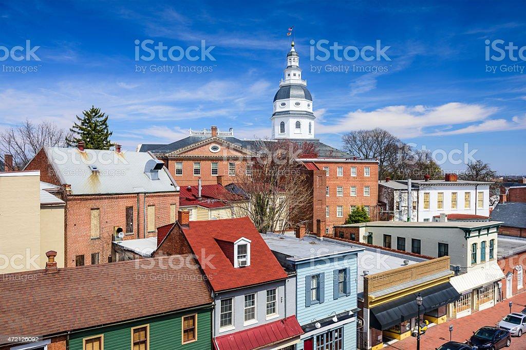 Annapolis Maryland Cityscape stock photo