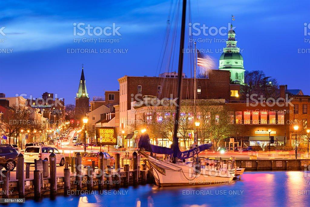 Annapolis Maryland Harbor stock photo