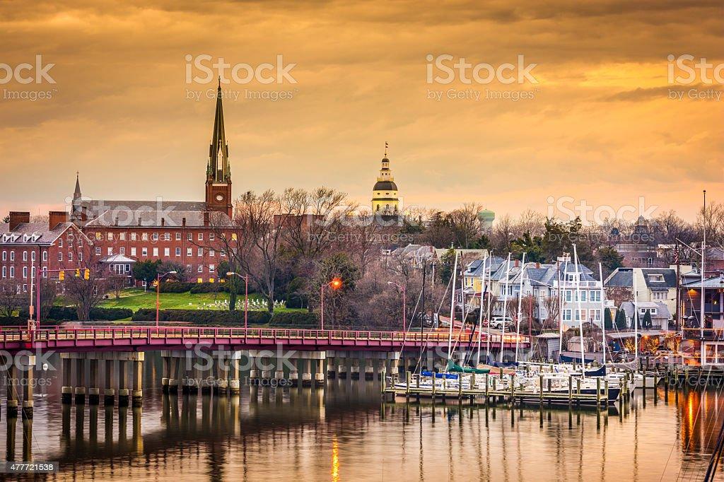 Annapolis Skyline stock photo