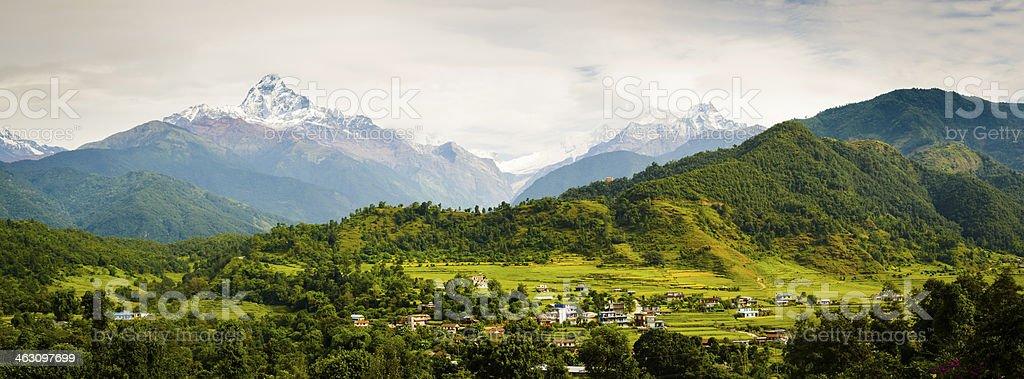 Annapura Panorama stock photo