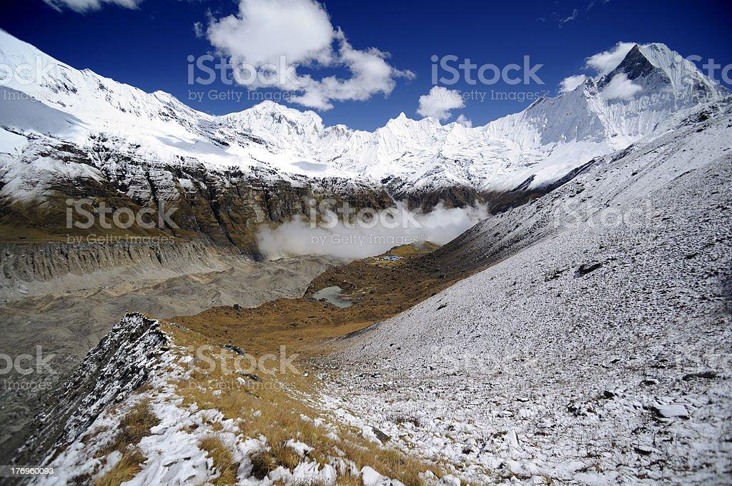 Annapurna base camp royalty-free stock photo