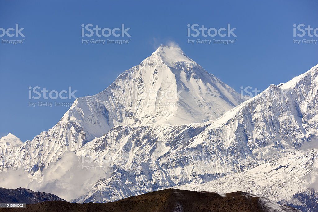 Annapurna circuit on Everest, Nepal royalty-free stock photo