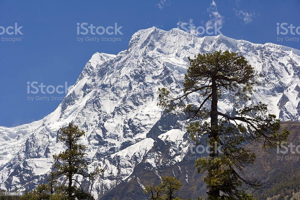Annapurna III. Nepal motives. royalty-free stock photo