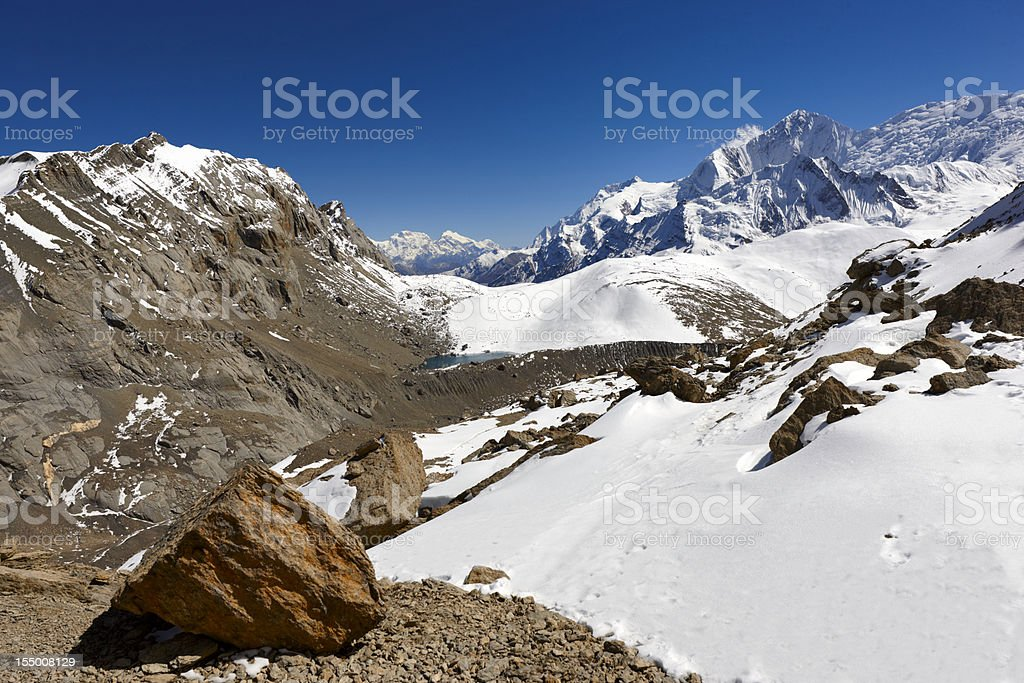 Annapurna. Lhotse. Everest. Nepal motives. royalty-free stock photo