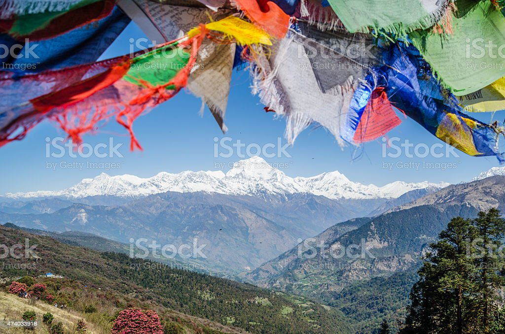 Annapurna mountain range , Nepal stock photo