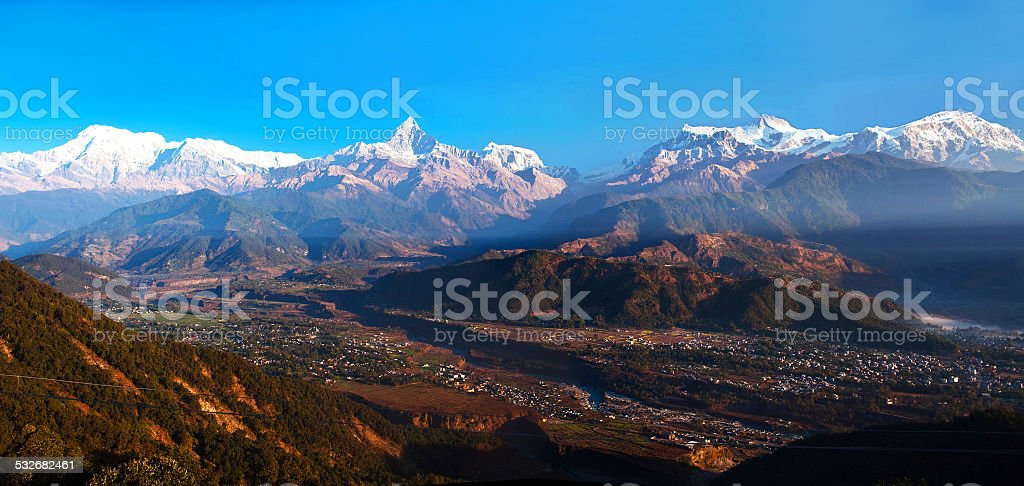 Annapurna mountain range, Nepal stock photo