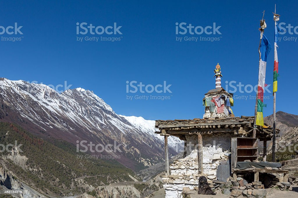 Annapurna Sanctuary Foot Trails and Landscape, Himalaya, Nepal royalty-free stock photo