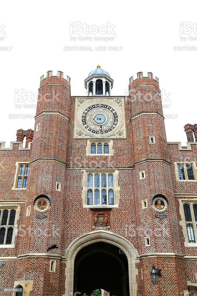 Anne Boleyn's Gate, Hampton Court Palace stock photo