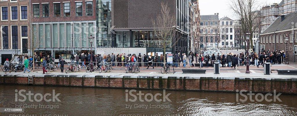 Anne Frank Huis Amsterdam. stock photo