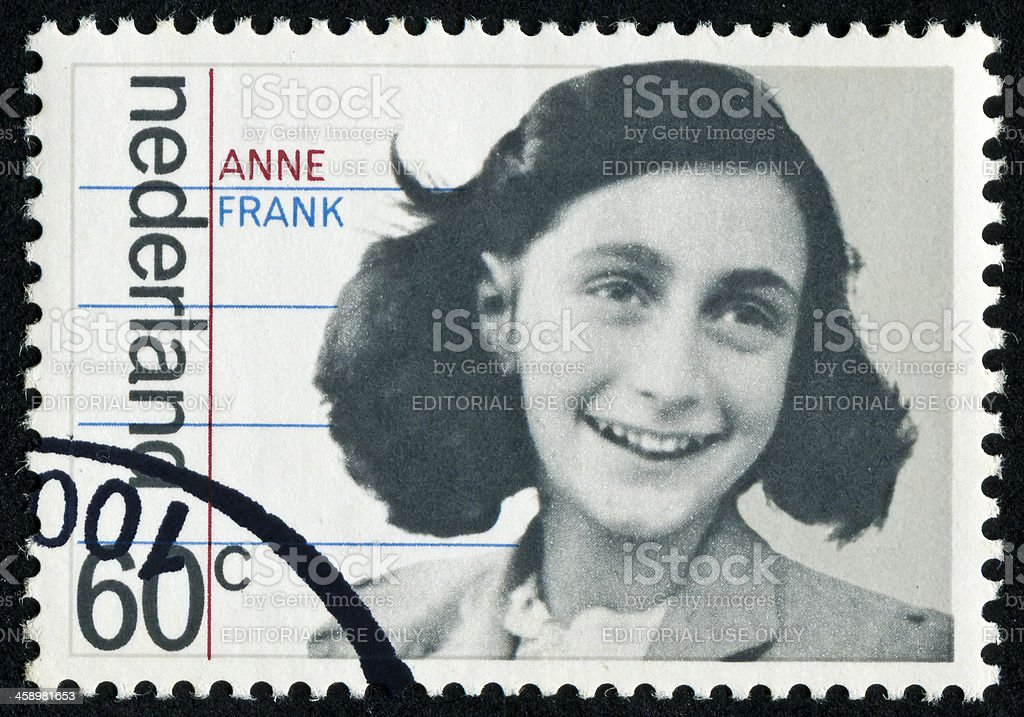 Anne Frank Stamp royalty-free stock photo
