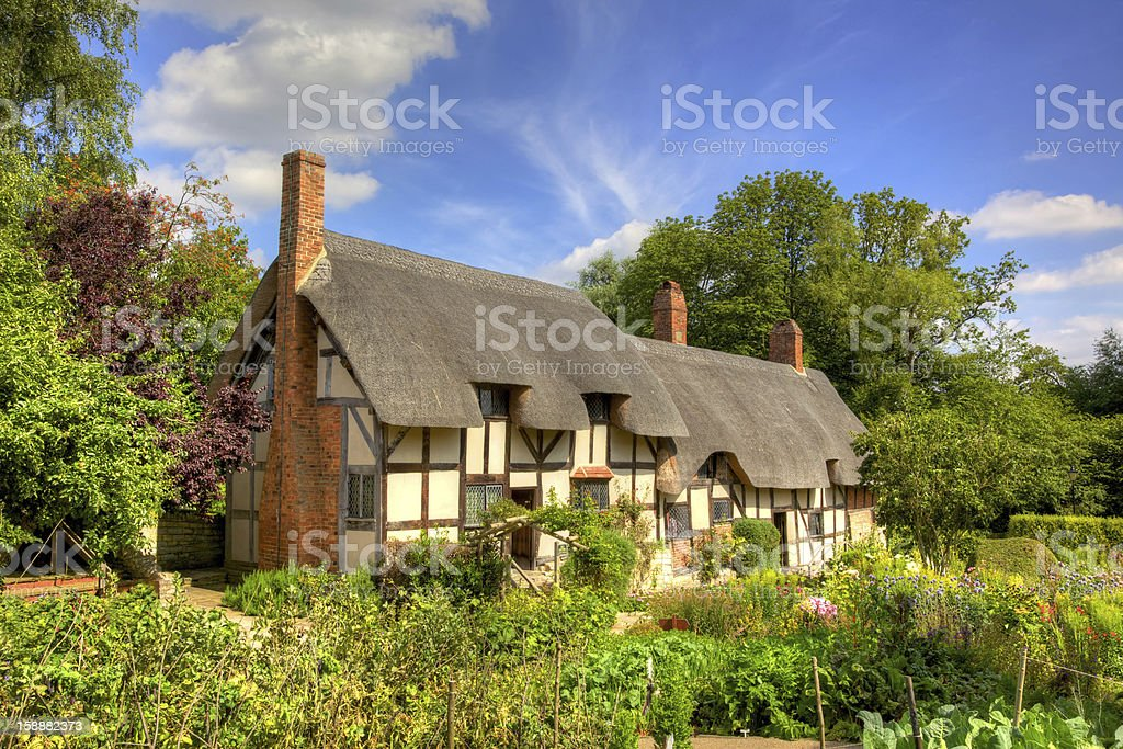 Anne Hathaway's Cottage in Shottery, Warwickshire, England stock photo