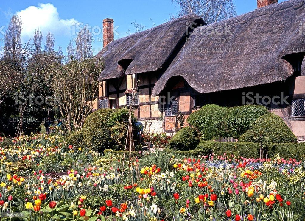 Anne Hathaways Cottage. stock photo