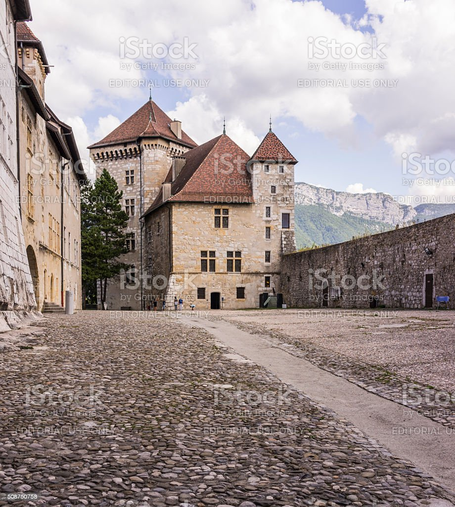 Annecy, France. City museum in the old castle, with tourists stock photo