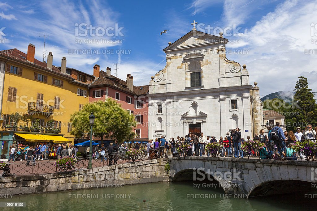Annecy, France on summers day stock photo