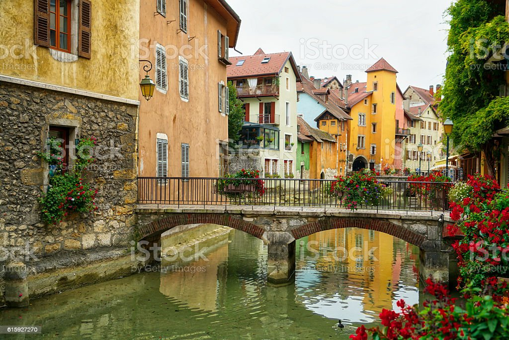 Annecy in France stock photo