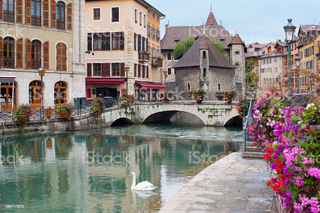 Annecy in september stock photo