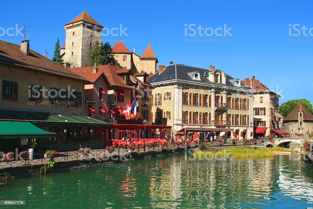 Annecy, la perle des Alpes françaises stock photo