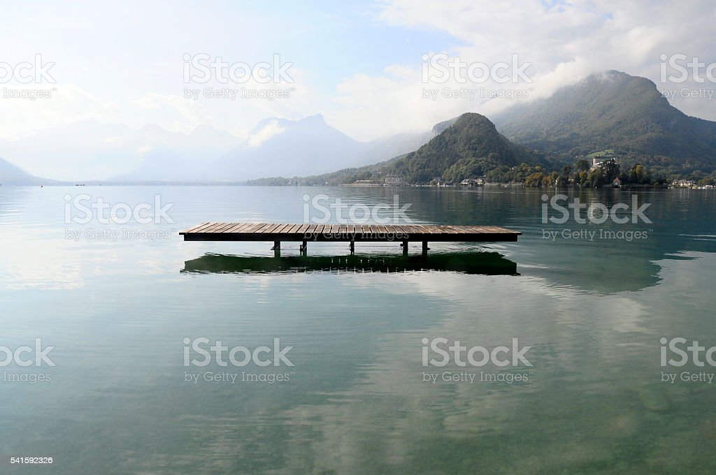 Annecy lake at Talloires, France stock photo