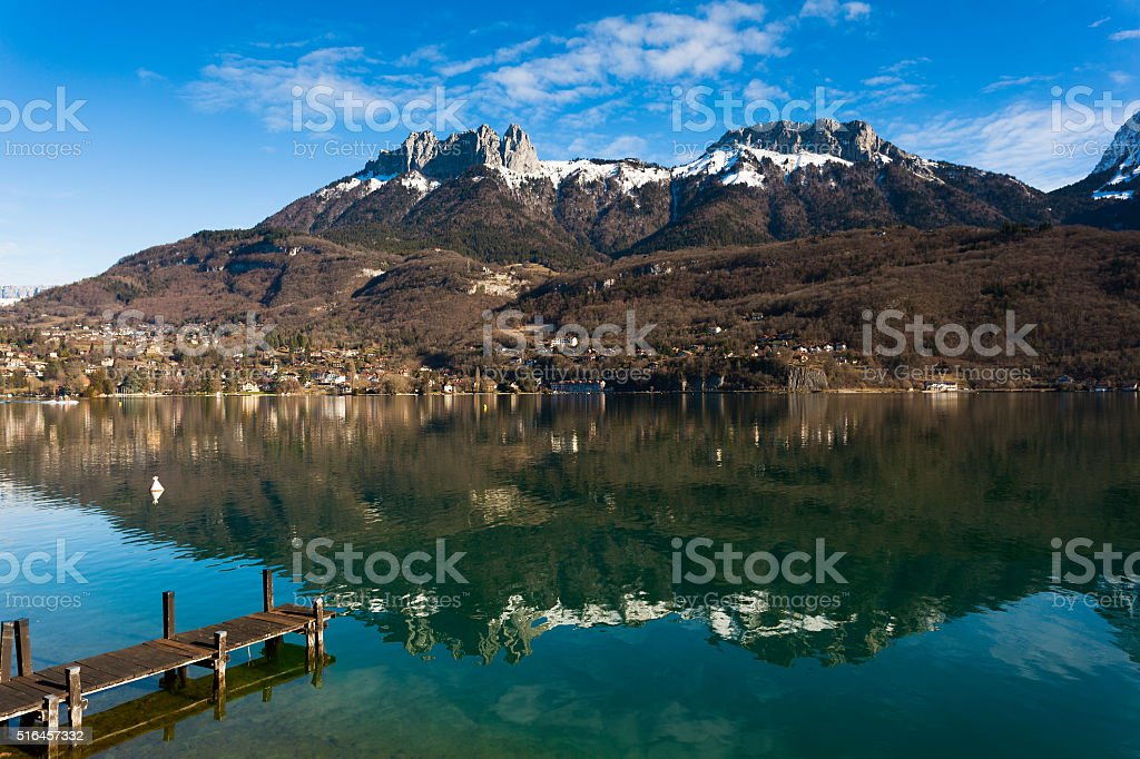 Annecy lake, Haute-Savoie, Rhone-Alpes, France stock photo