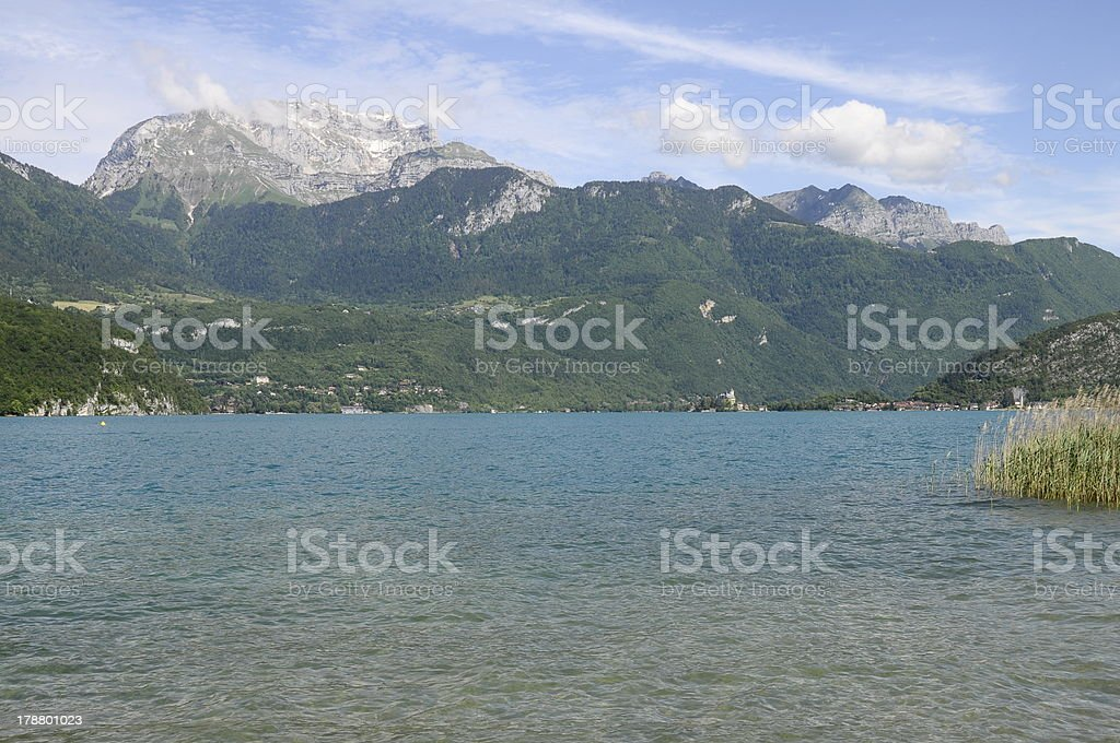 Annecy lake in France stock photo