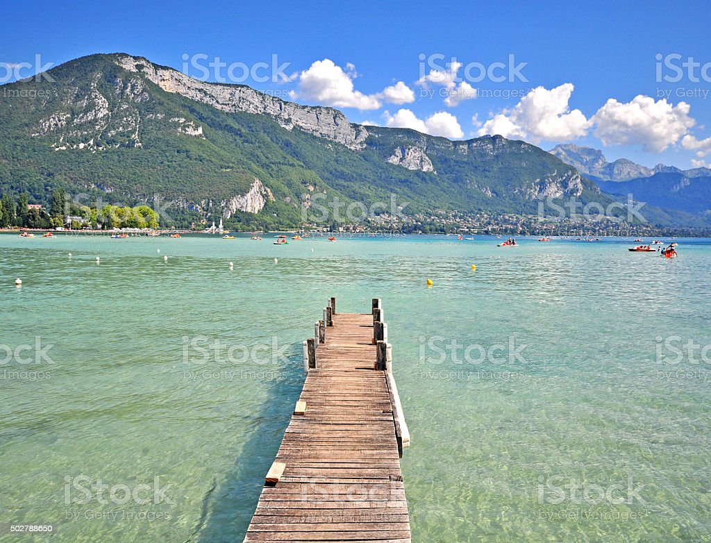 Annecy lake stock photo