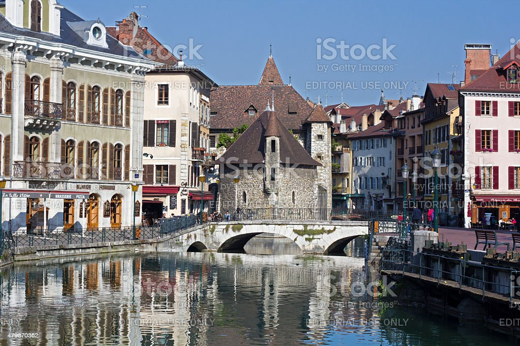 Annecy old town stock photo