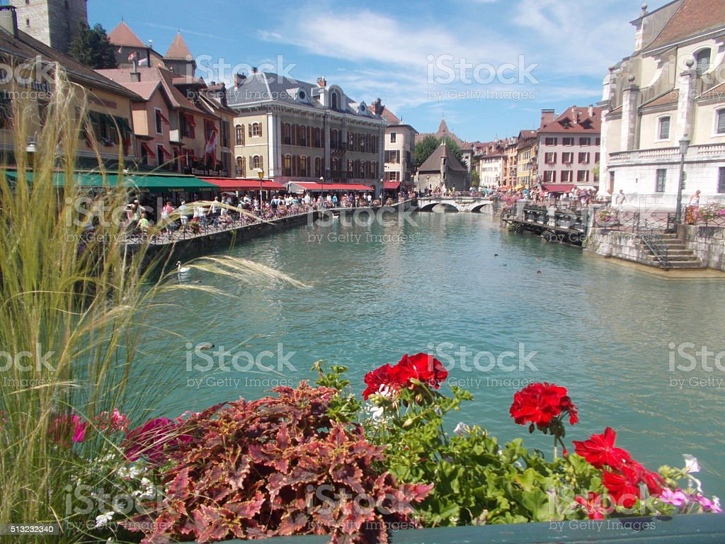 annecy - view on the old town stock photo