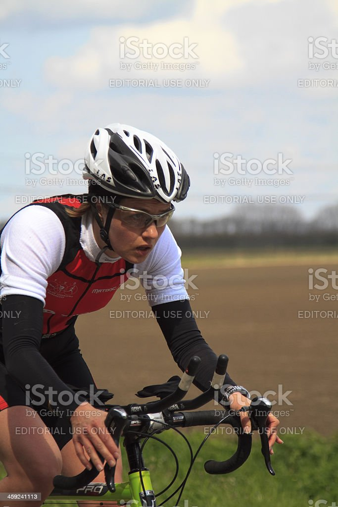 Annegreet Moree cycling stock photo