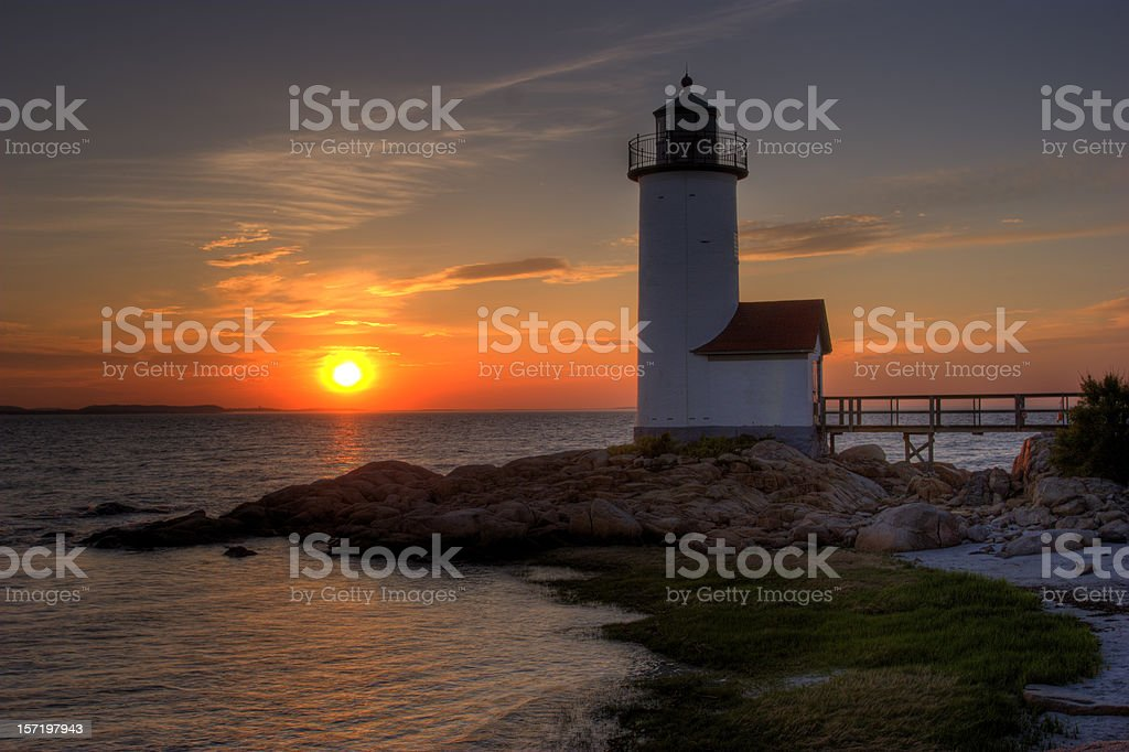 Annisquam Lighthouse, Cape Ann (MA) royalty-free stock photo