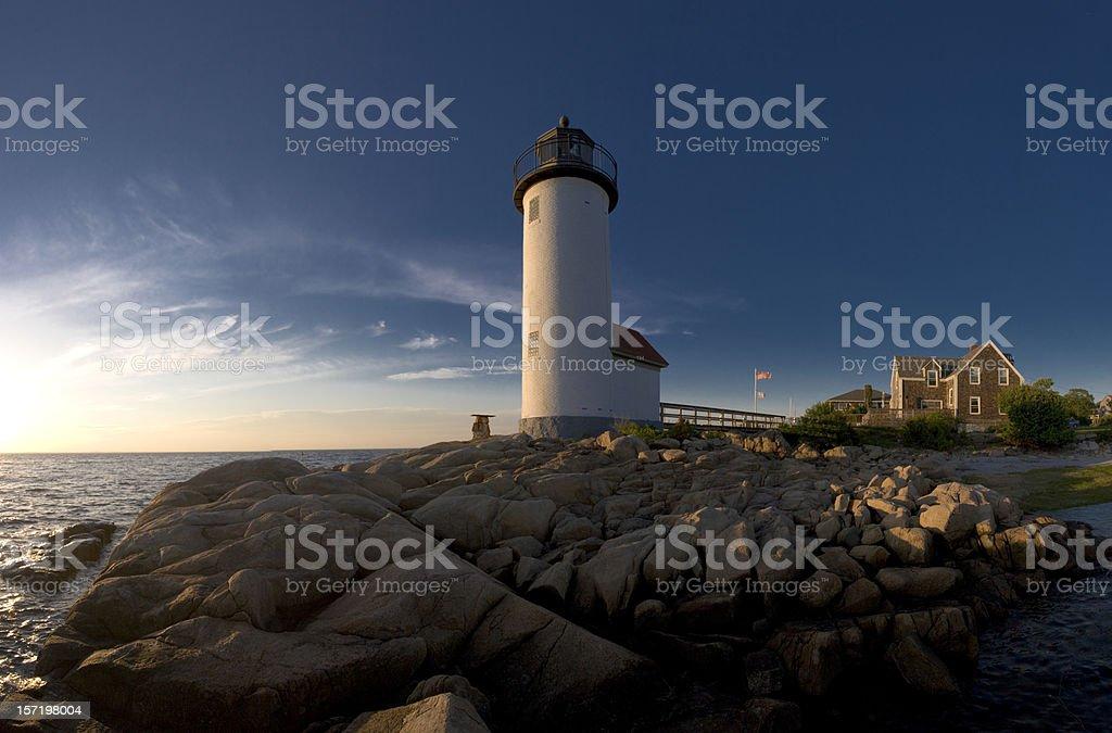 Annisquam Lighthouse, Cape Ann (MA) stock photo