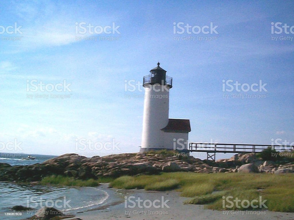 Annisquam Lighthouse royalty-free stock photo