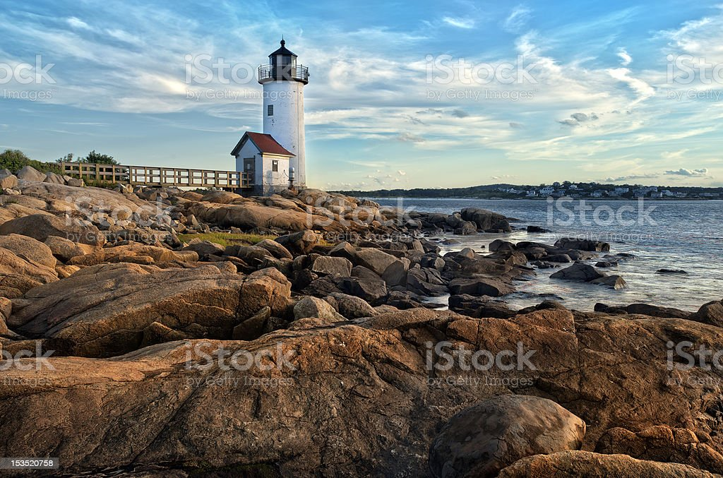 Annisquam lighthouse stock photo