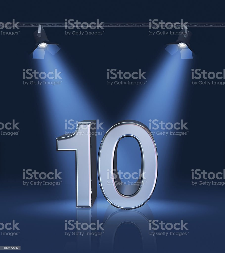 Anniversary 10 stock photo