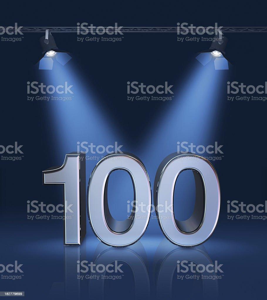 Anniversary 100 stock photo