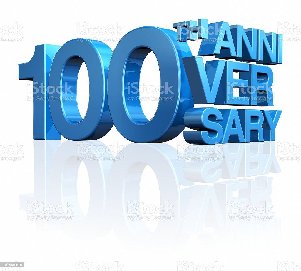 Anniversary 100th stock photo