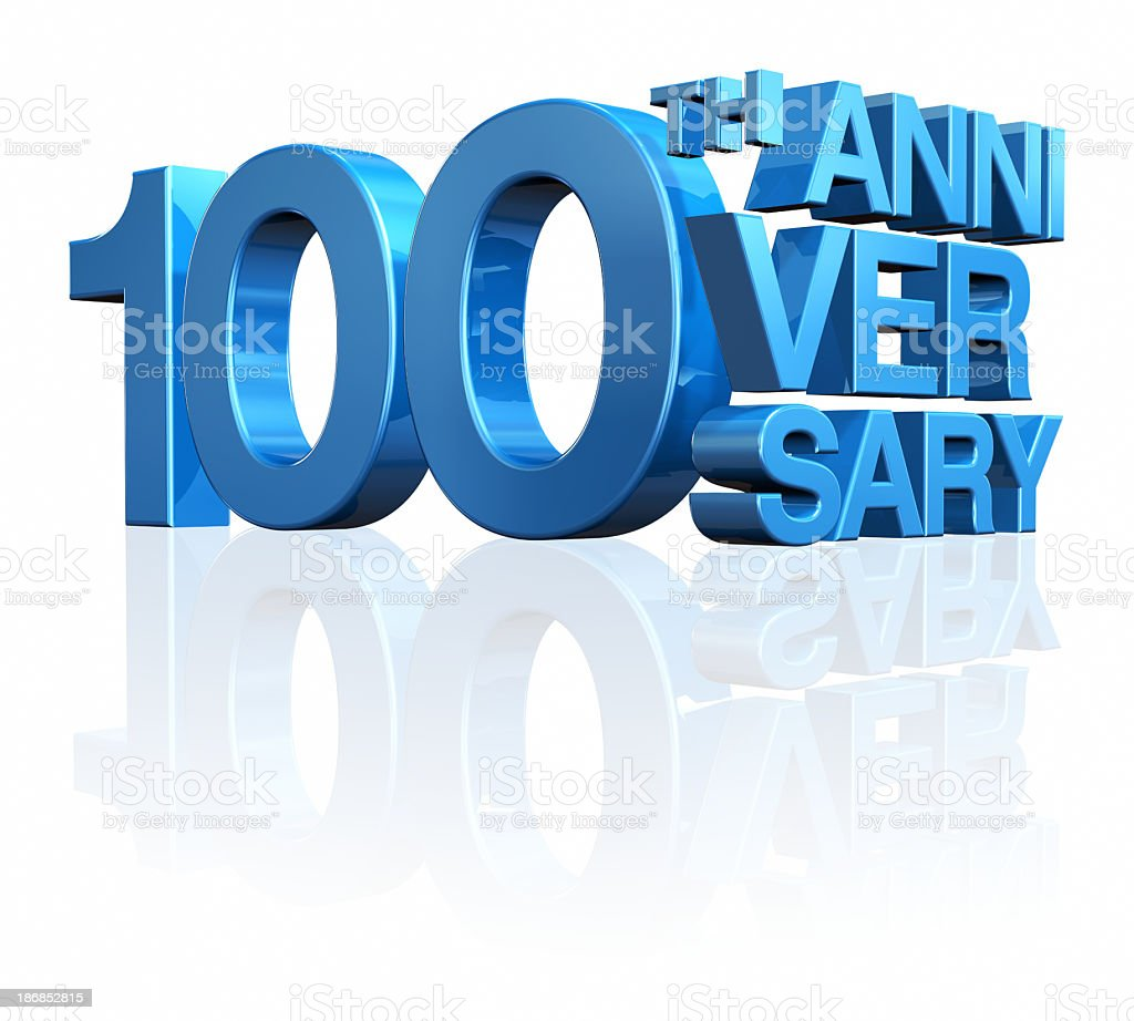 Anniversary 100th stock photo