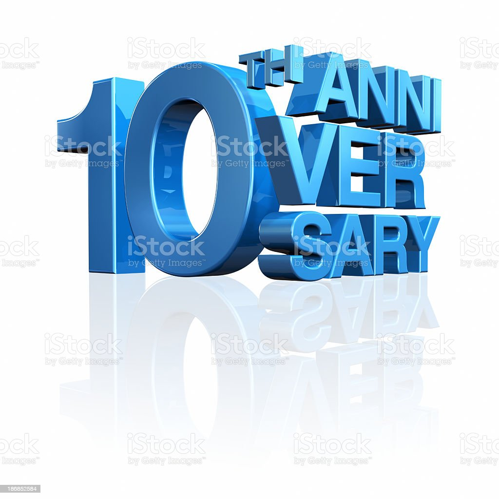 Anniversary 10th stock photo