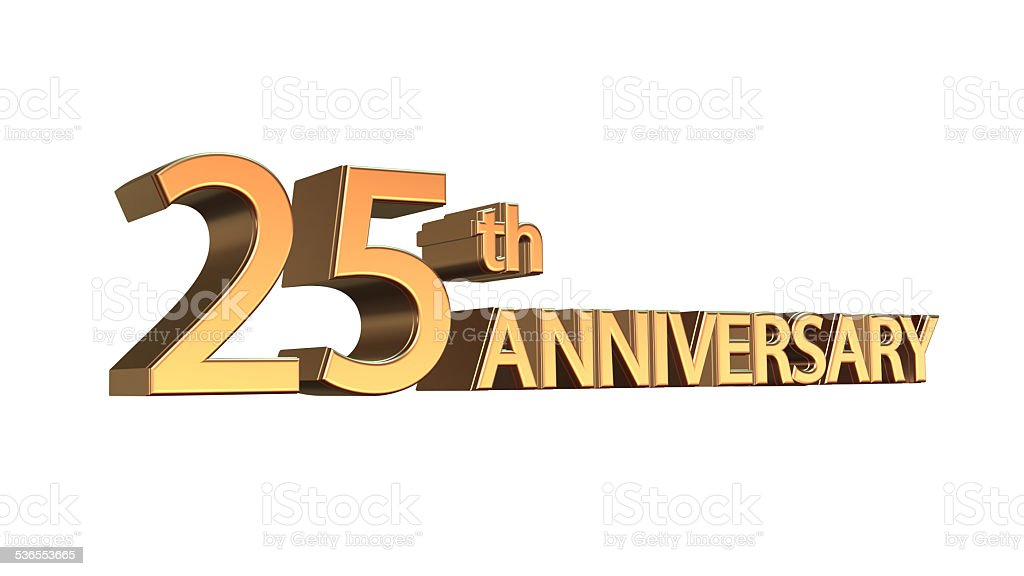 Anniversary 25th, Twenty-fifth Jubilee stock photo