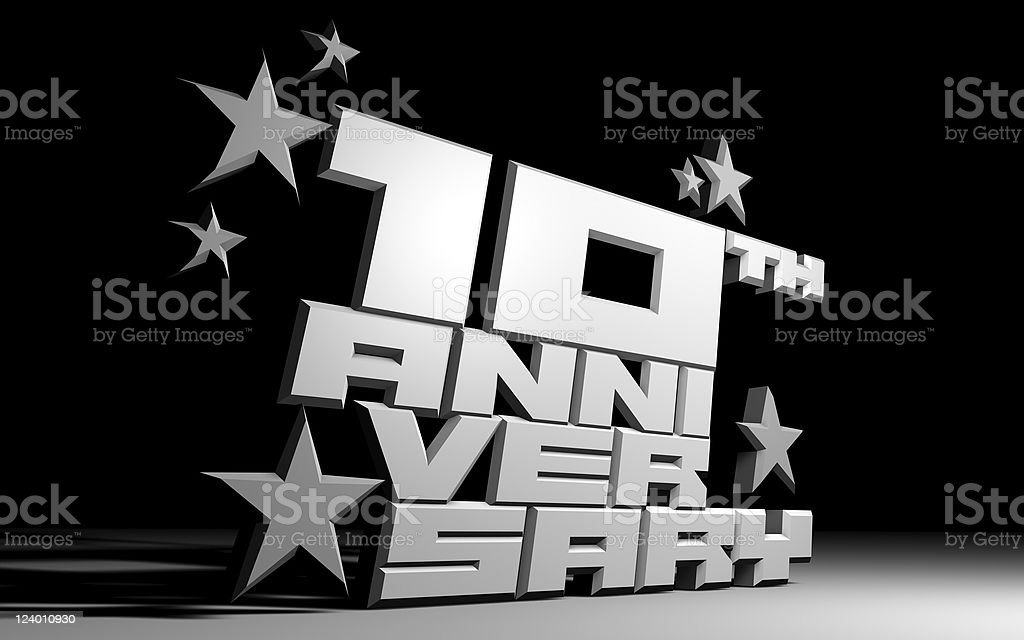 Anniversary 3D type royalty-free stock vector art