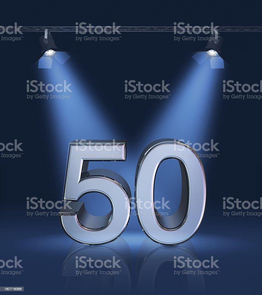 Anniversary 50 royalty-free stock photo