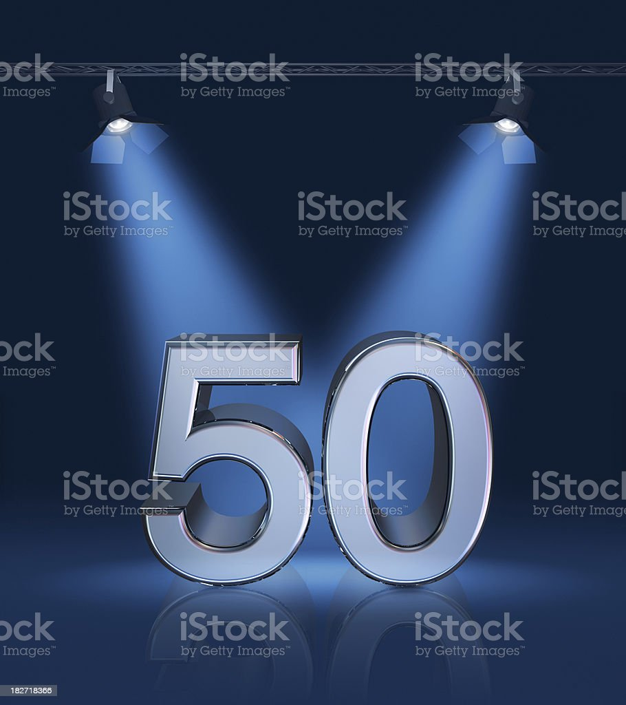 Anniversary 50 stock photo